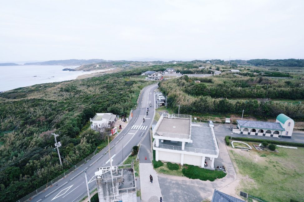 角島灯台からの景色