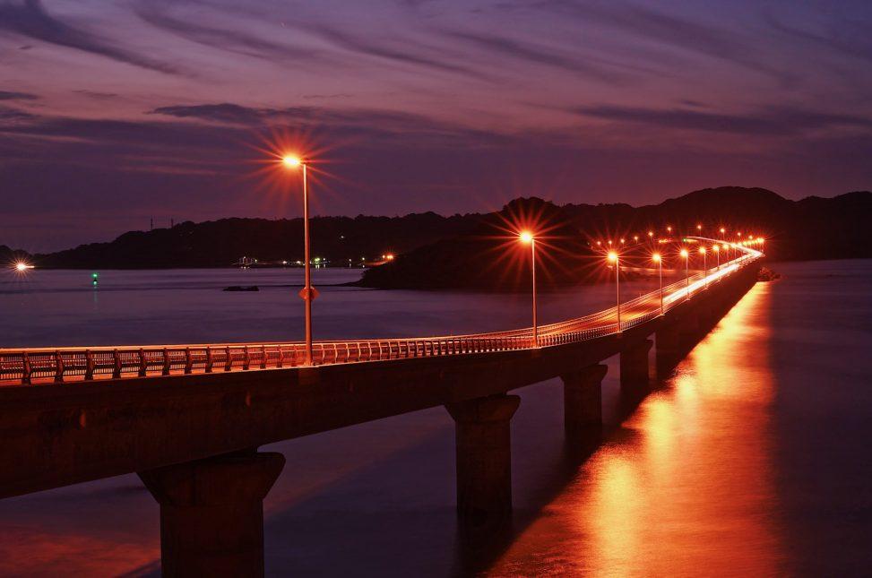 角島大橋夜景