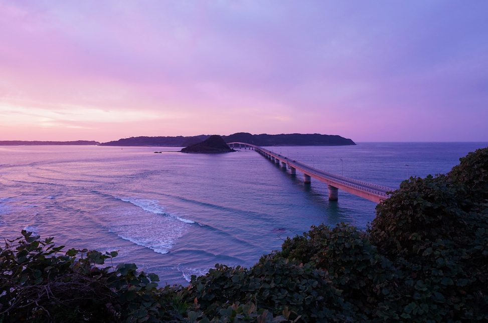 角島大橋夕景