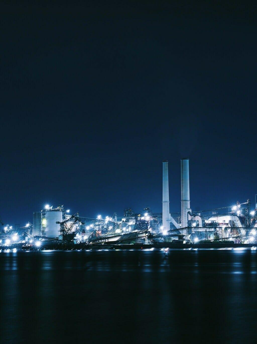 周南市の工場夜景